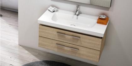 burgbad Oteo Waschtischunterschrank Holz hell